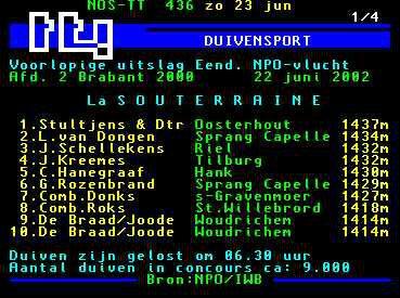 Teletekst 2002 La Souterraine